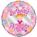 "BIRTHDAY PRINCESS BALLOON 18""  19455-18"